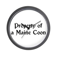 Property Of A Maine Coon Wall Clock
