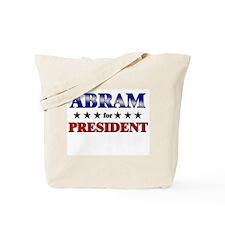 ABRAM for president Tote Bag