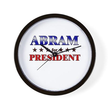 ABRAM for president Wall Clock