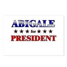 ABIGALE for president Postcards (Package of 8)