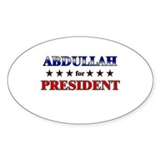 ABDULLAH for president Oval Decal