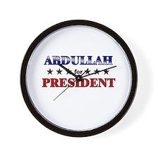ABDULLAH for president Wall Clock