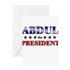 ABDUL for president Greeting Card