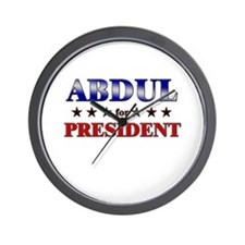 ABDUL for president Wall Clock