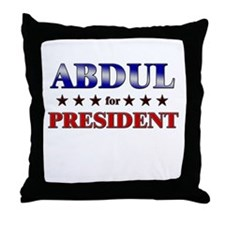 ABDUL for president Throw Pillow