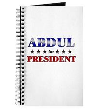 ABDUL for president Journal