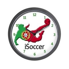 iSoccer Portugal Wall Clock