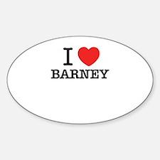I Love BARNEY Decal