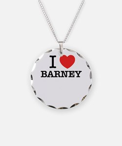 I Love BARNEY Necklace