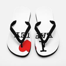 I Love BARNEY Flip Flops