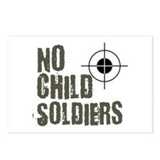 No child soldiers Postcards (Package of 8)