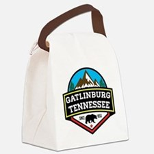Cute Smoky mountains Canvas Lunch Bag