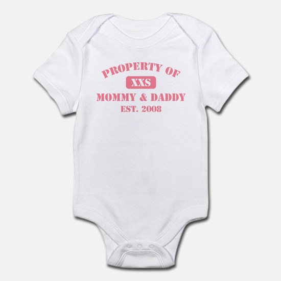 Property Of Mommy & Daddy 2008 (Pink) Infant Bodys