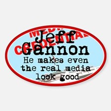Real media looks good Oval Decal