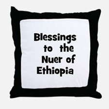 Blessings  to  the  Nuer of E Throw Pillow