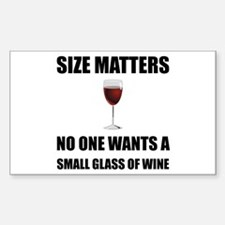 Size Matters Wine Decal