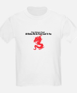 All Dishes We Do Fresh Cook To You - Kids T-Shirt