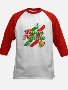 Buon Natale Italian Christmas Kids Baseball Jersey