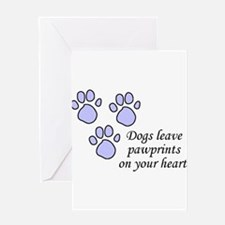 Blue dogs leave pawprints on your heart Greeting C