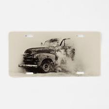 Smokin Truck Aluminum License Plate
