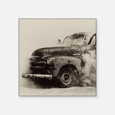 "Smokin Truck Square Sticker 3"" X 3"""