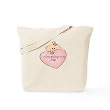My Heart Belongs Aunt Tote Bag