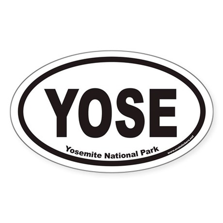 Yosemite National Park YOSE Euro Oval Sticker