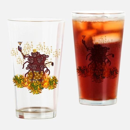 Cute Monkey year Drinking Glass