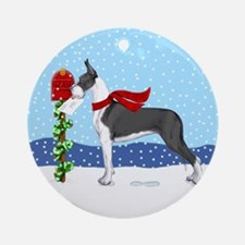 Great Dane Mantle Mail Ornament (Round)