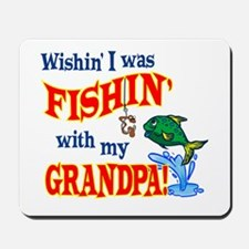 Fishing With Grandpa Mousepad