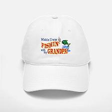 Fishing With Grandpa Baseball Baseball Cap