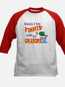 Fishing With Grandpa Kids Baseball Jersey
