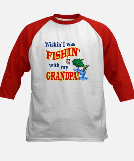 Fishing With Grandpa Kids Baseball Jersey