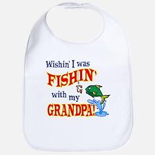 Fishing With Grandpa Bib