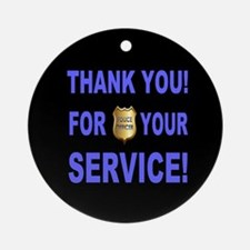 Police Officer Thank You Round Ornament