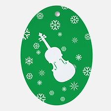 Viola Snowflakes Ornament (Green Oval)