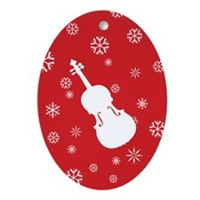 Viola Snowflakes Ornament (Red Oval)