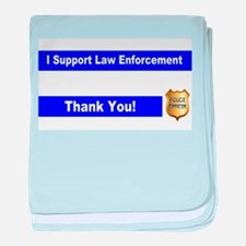 Police Officer Thank You baby blanket