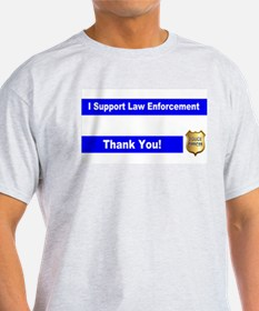 Police Officer Thank You T-Shirt