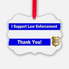 Police Officer Thank You Ornament