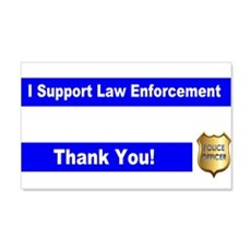 Police Officer Thank You Wall Decal