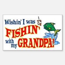 Fishing With Grandpa Rectangle Decal