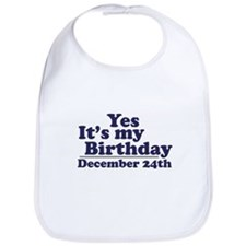 December 24th Birthday Bib