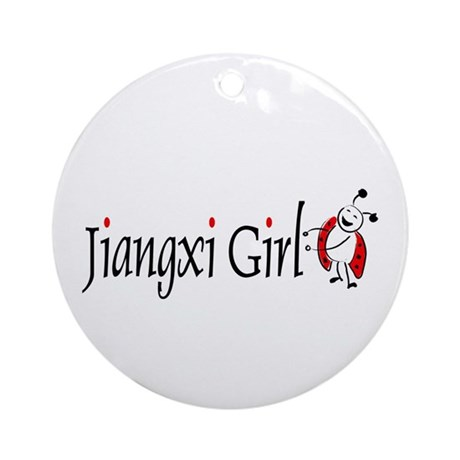 Jiangxi Girl Ornament (Round)