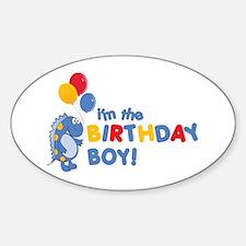 the birthday boy Oval Decal