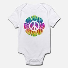 Colorful Peace Flower Infant Bodysuit