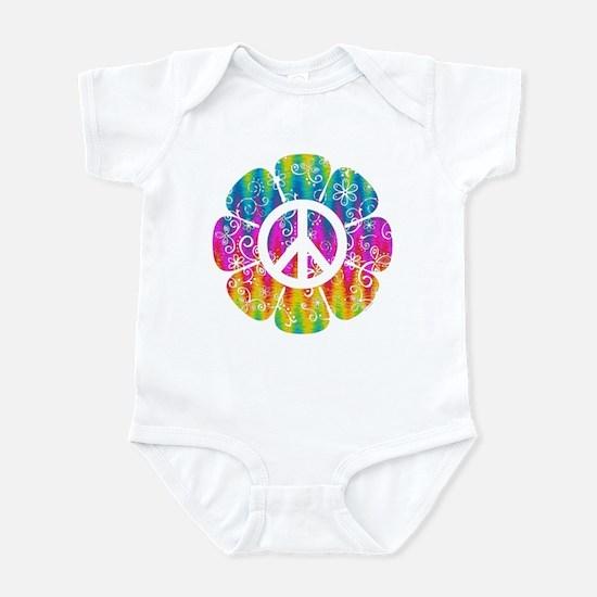 Colorful Peace Flower Infant Bodysuit