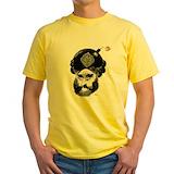Muhammad bomb Mens Yellow T-shirts