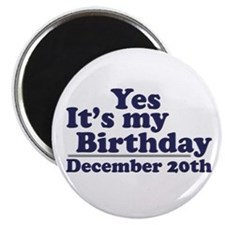 December 20th Birthday Magnet