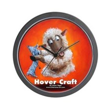 Hover Craft - Knitting Sheep Wall Clock